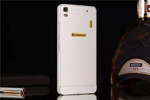 Lenovo A7000 case, Ziaon Aluminum Metal Bumper Frame Case with Acrylic Back Cover for Lenovo A7000 - Silver