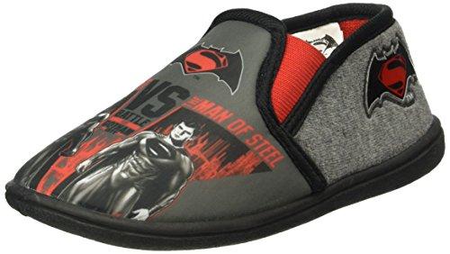 Batman BVS FIRMIN, Pantofole bambini Grigio Grau (Anthracite (123)) 28