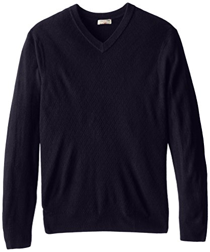 Dockers Men's Texture Mini Diamond V-Neck, Deep Night, X-Large/Tall