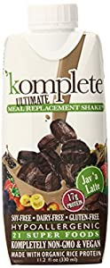 Kate Farms Komplete Meal Replacement Shake, Coffee, 11.2 Ounce (Pack of 12)