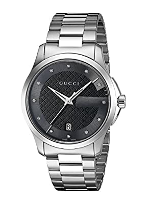 Gucci 'G-Timelss' Quartz Stainless Steel Automatic Watch, Color:Silver-Toned (Model: YA126456)