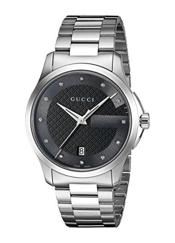 Gucci G TIMELESS-Reloj de pulsera analógico unisex de cuarzo Acero inoxidable ya126456