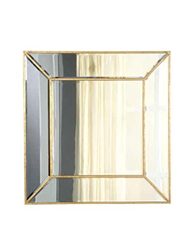 Manhattan Mirror, Gold Leaf/Clear Mirror