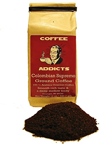 Colombian Supremo Gourmet Coffee (2-Pack) By Coffee Addicts