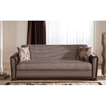 Alfa Sleeper Sofa Color: Brown