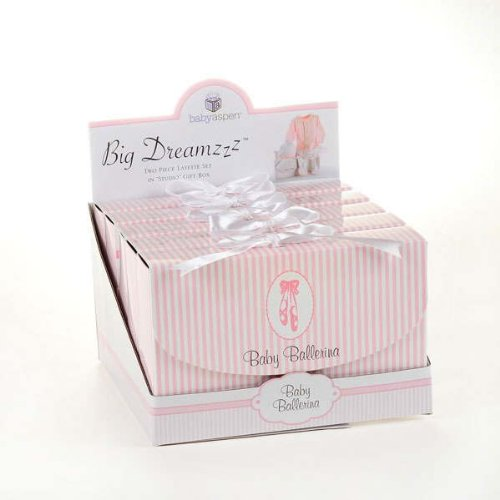 """Big Dreamzzz"" Baby Ballerina Two-Piece Layette Set in ""Studio"" Gift Box - 1"