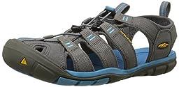 KEEN Women\'s Clearwater CNX Sandal,Gargoyle/Norse Blue,8 M US