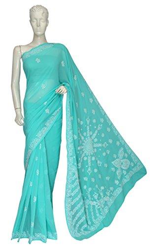 ADA-Hand-Embroidered-Designer-Chikankari-Ethnic-Georgette-Saree-With-Blouse-A120108