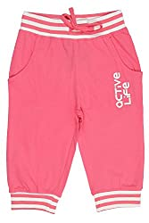 Chalk by Pantaloons Girl's Regular Fit Track Pant(205000005636637, Pink, 2-3 Years)