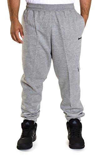 Spalding Men's Comfort Fleece Athletic Fit Jogger Black/Heather Gray, Medium
