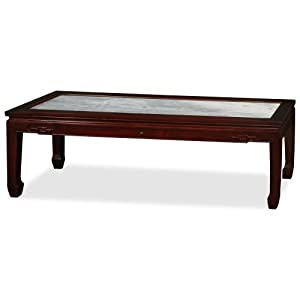 Elmwood kang coffee table with marble top for Coffee tables on amazon