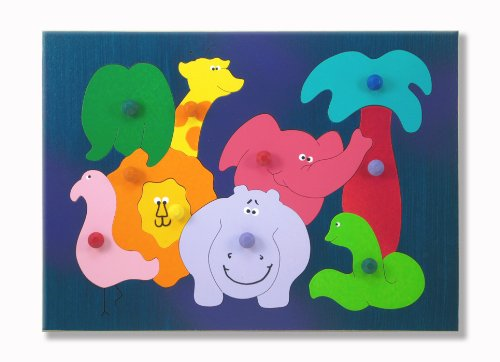 Cheap KidPuzzles Wooden Puzzle African Zoo Animals (B00564HLG6)