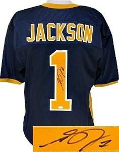 Desean Jackson signed California Bears Navy Custom Jersey- JSA Hologram
