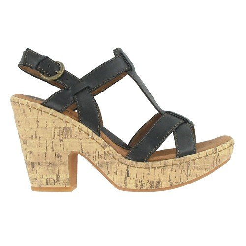 Women's BOC by Born, Sallyanne high heel platform Sandal BLACK 7 M