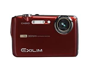 Casio Exilim EX-FS10 9MP Digital Camera with 3x Optical Image Stabilized Zoom and 2.5 inch LCD (Red)