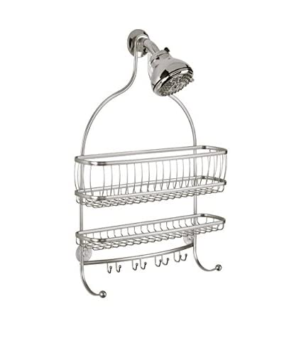 InterDesign York Lyra Jumbo Shower Caddy, Satin