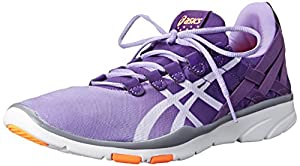 ASICS Women's GEL-Fit Sana Cross-Training Shoe, Concord Grape/White/Fiesta Orange, 6 M US