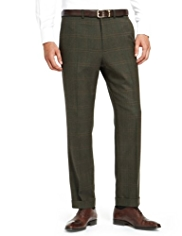 Sartorial Luxury Winter Weight Wool Rich Large Checked Trousers