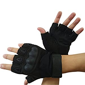 Leben Outdoor Half-finger Fingerless Anti-slip Tactical Airsoft Hunting Riding Cycling Gloves Sports Fingerless Gloves by Leben