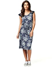 Indigo Collection Floral Lace Dress with Belt