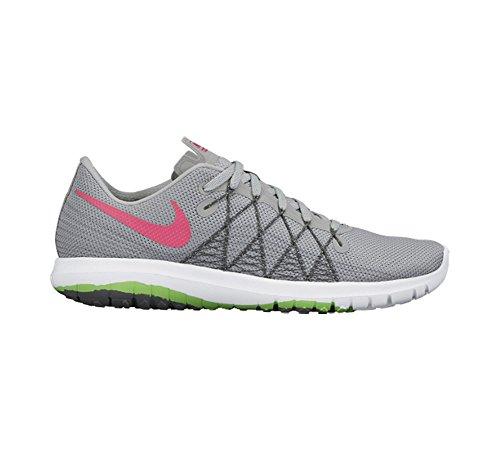 Nike Women's Flex Fury 2 Wolf Grey/Hyper Pink/Vltg Grn/Drk Running Shoe 8.5 Women US