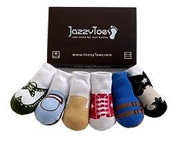 JazzyToes Original Variety Boys\' Socks, Assorted, 2 4 Years