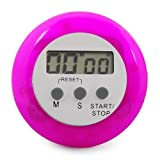 SODIAL(TM) Purple/pink Digital Electronic Magnetic Kitchen Timer