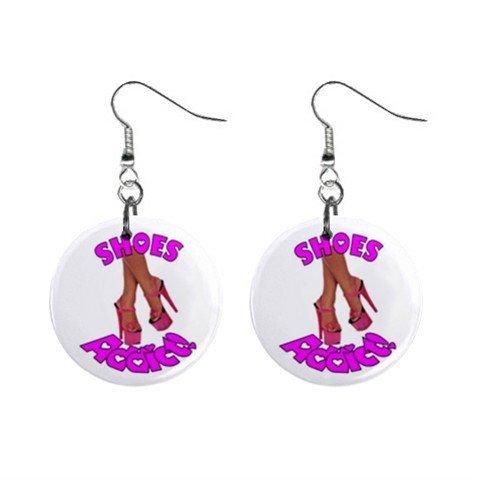 SHOE Addict Novelty Dangle Button Earrings Jewelry