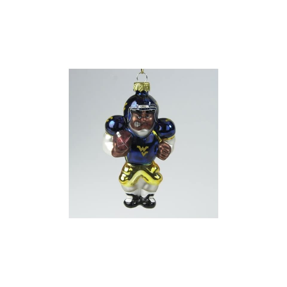West Virginia Mountaineers Ncaa Glass Player Ornament (4 African American)