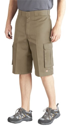 Dickies Men's Big 13 Inch Loose Fit Twill Cargo Short, Desert Sand, 46 (Big And Tall Shorts compare prices)