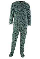 Club Room Men's Camouflage Footed Pajamas