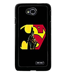 PrintDhaba Superman D-5563 Back Case Cover for LG L90 (Multi-Coloured)