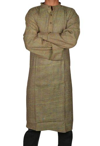 Handmade Casual Wear Indian Khadi Long Mens Kurta Fabric For Winter & Summers Size 5XL