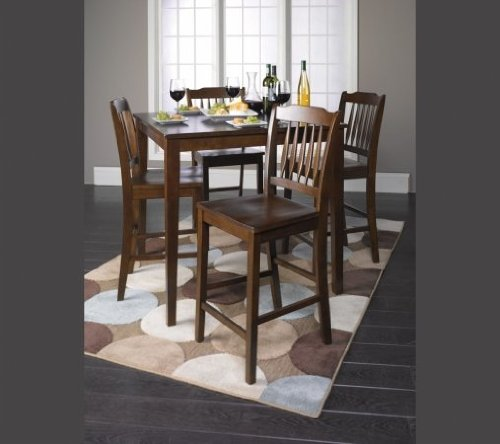 Acme 07524 5-Piece Donnie Counter Height Dining Set, Walnut Finish