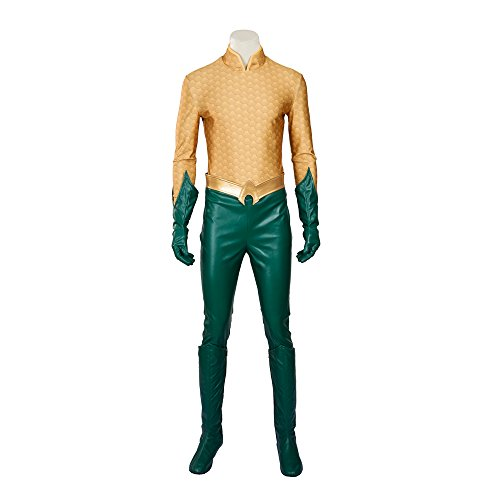 [MLYX Men's Aquaman Arthur Curry Orin Cosplay Costume Outfit Halloween Costumes for Men (Large)] (Aquaman Halloween Costumes)