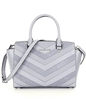 MICHAEL Michael Kors Selma Medium Satchel (Dove )