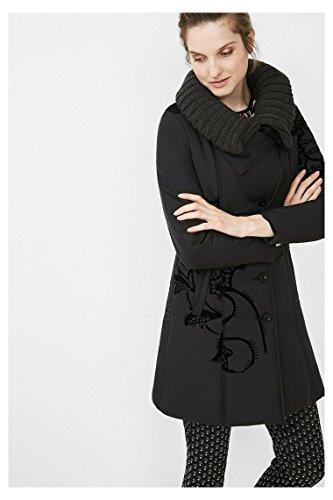 DESIGUAL - Cappotto donna nero pontevedra 44 (xl) nero