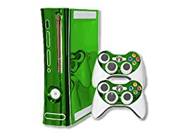 Xbox 360 Skin - NEW - LIME CHROME MIRROR system skins faceplate decal mod