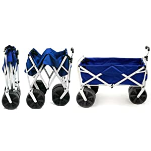 Mac Sports Folding Beach Wagon in Blue