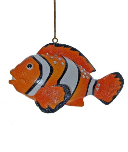 December Diamonds Aquatic Collection Clown Fish Christmas Ornament- Embellished with Rhinestones!!!Now a Valuable Discontinued Limited Edition!!!