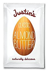 Justin\'s Nut Butter Natural Classic Almond Butter 10 Count Squeeze Packs, 11.5-Ounce Boxes (Pack of 3)