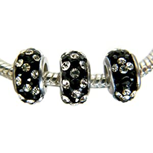 Swarovski Crystal Beads Set of 3, Fits Pandora and Troll Bracelets