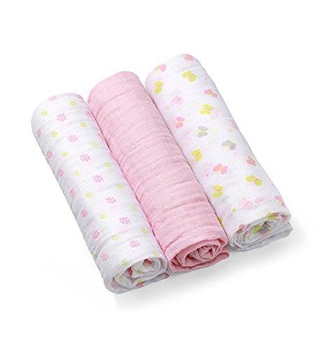 Mullwindeln-Super-weiches-Musselin-Windeln-70x70-cm-3-Stck-Spucktcher-rosa