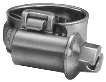 Precision Brand Miniature Metric Smooth Band Worm Gear Hose Clamp, 12mm - 18mm (Pack of 10)
