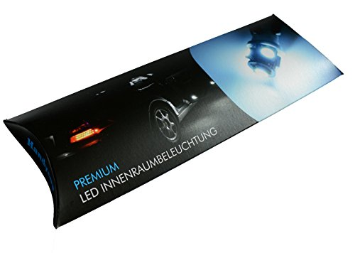 Handycop® LED Innenraumbeleuchtung für VW Volkswagen Golf 6 Cabrio Set 10 Stück - Farbe: Xenon Weiß - Check Widerstand - Komplett