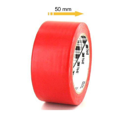 ruban-adhesif-vinyle-3m-764-rouge-50mm