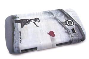Grey Banksy Balloon Girl, Gris Banksy fille de ballonDesigner Samsung Galaxy Ace 2 i8160 Coque arriere Coque Case