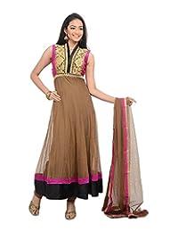 Sareeshut Women's Net Regular Fit Anarkali Suits - B00WQZ06Z6