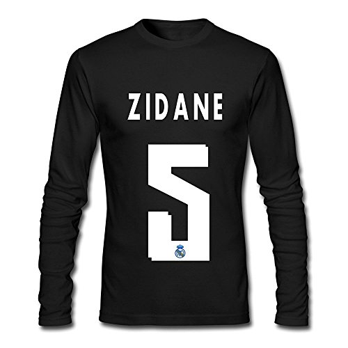 TIANYI Men's Zinedine Real Madrid Third Replica Crew Neck Long Sleeve Tee Shirts (Wagner Jersey compare prices)