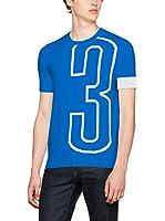 Dirk Bikkembergs Camiseta Manga Corta (Azul Royal)